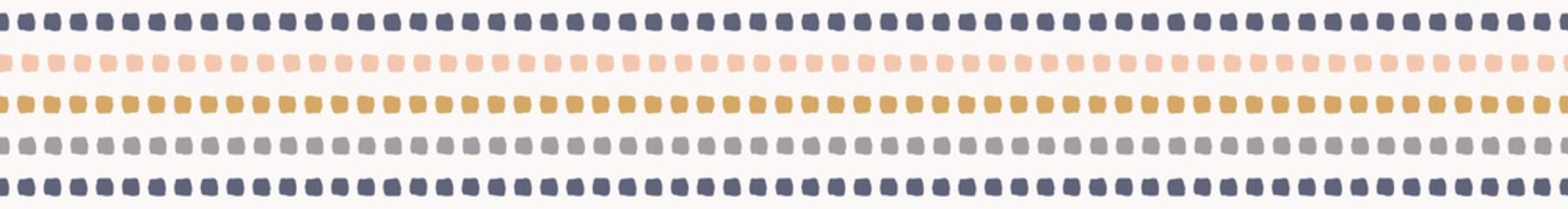 Hand drawn graphic doodle stripes seamless border pattern. Sketchy organic lines edging vector illustration. Modern graphic design. Fresh gender neutral scandi style scribble. Kid decor ribbon trim