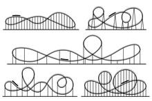 Roller Coaster Silhouette. Amu...