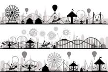 Amusement Park Landscape. Carn...