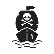 Boat Vector Pirate Ship Icon L...