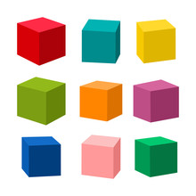 Set Of Blank Colorful Toy Bric...
