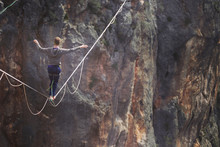 Man Balancing On The Rope Conc...