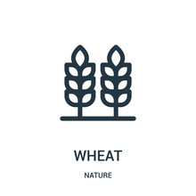 Wheat Icon Vector From Nature ...