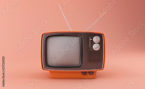 Obraz 3D retro tv - fototapety do salonu