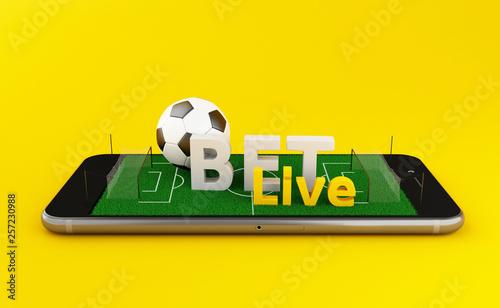 Leinwand Poster 3d Soccer bet online