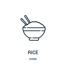 Rice Icon Vector From China Co...