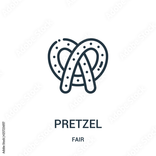 Fotomural pretzel icon vector from fair collection
