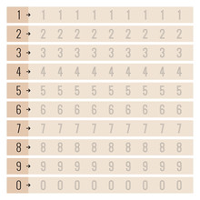 Numbers Writing Exercise Set