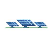 Solar Panel On A White Backgro...