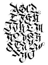 Handwritten Calligraphy Alphab...