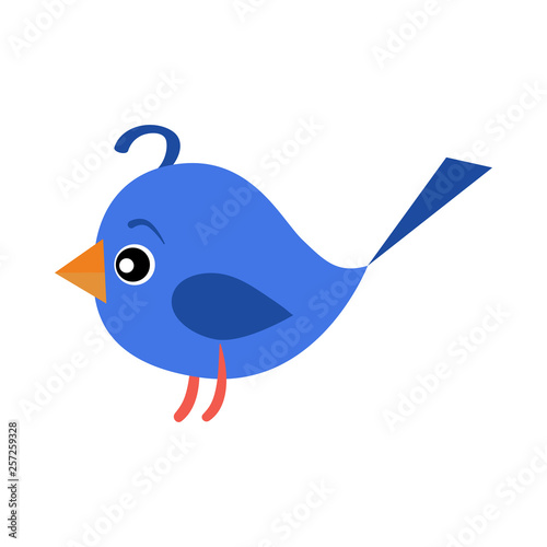 Photo Stands Birds, bees Violet toy bird illustration.Cute, playing, srping. Newborn concept. Vector illustration can be used for topics like child, children stuff, toy market