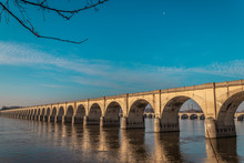 Bridge Over Susquehanna River In Harrisburg, Pa