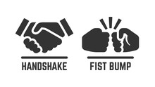 Vector Handshake And Fist Bump...