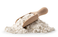Pile Of Flour With Wooden Spoo...