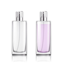 Perfume Glass Bottle On White ...