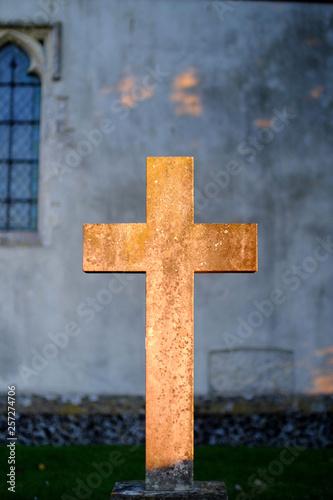 Fotografie, Obraz  Golden crucifix