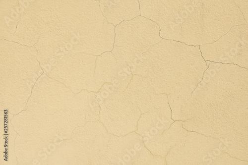 Fotografía  yellow cracked background wall