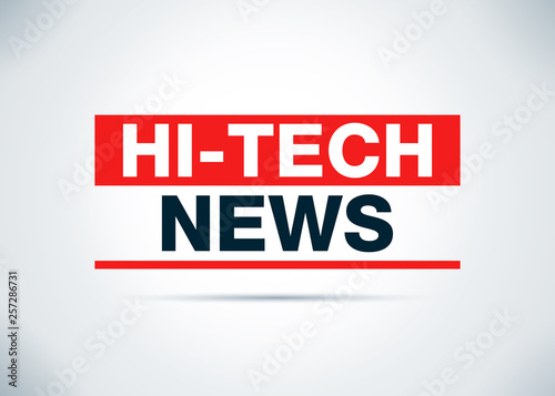 Fotografiet  Hi-tech News Abstract Flat Background Design Illustration