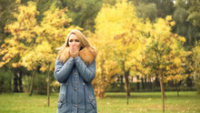 Freezing Lady In Stylish Coat ...