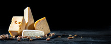 Different Kinds Of Cheese With...