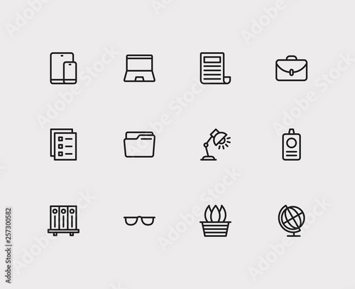 Foto  Workplace icons set