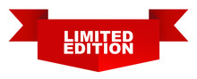 Red Vector Banner Limited Edition