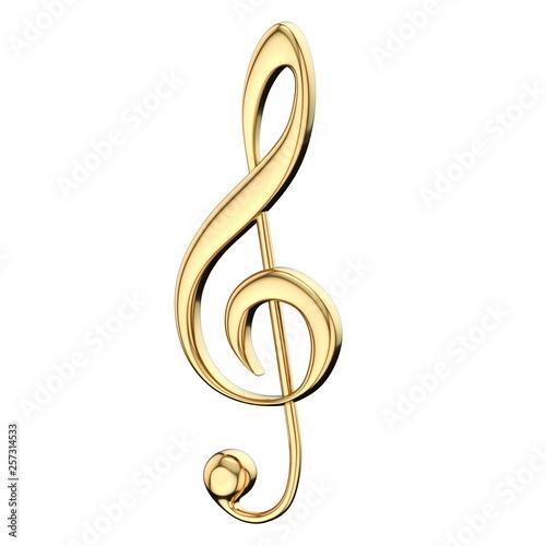 Fotografia Golden treble clef 3D