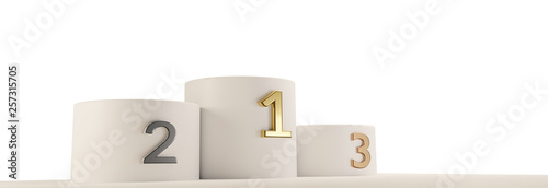 podium cylinder 3d-illustration Fototapete