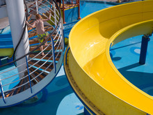 Child Enjoying Waterpark On Cruise Ship