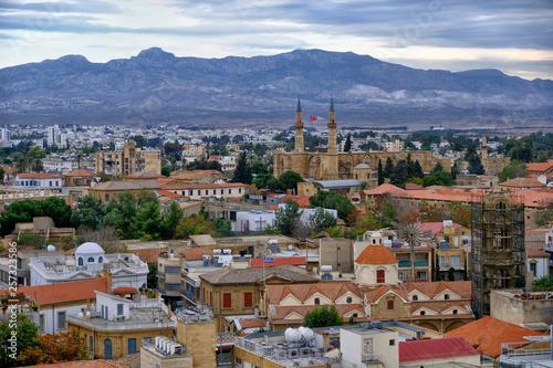 Panoramic view of Nicosia, Cyprus. View on North Cyprus. Fototapet
