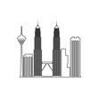 cityscape Kuala Lumpur icon. Element of Cityscape for mobile concept and web apps icon. Outline, thin line icon for website design and development, app development