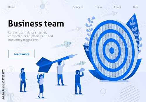 Business Team Metaphor Cooperation WorkBanner Canvas-taulu