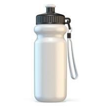 White Sport Plastic Water Bottle Standing.3D