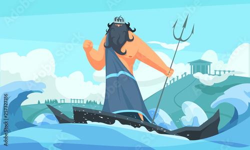 Ancient God Poseidon Wallpaper Mural
