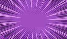 Comic Book Page Purple Concept