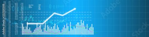 Fotografía  Business stock market background