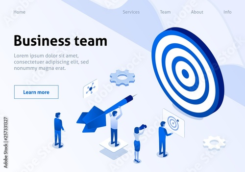 Photo  Successful Business Team Management Service Banner