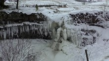 Frozen Waterfall Of Hellgill F...