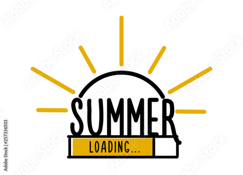 Doodle Summer Loading illustration screen Canvas-taulu
