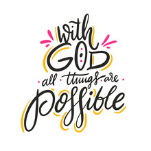 With God All Things Are Possib...