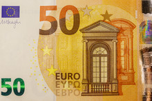 Macro Shot Of Fifty Euro Bankn...