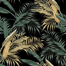 Tropical Banana Leaves Seamles...