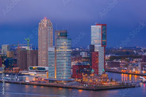 Foto auf Gartenposter Rotterdam Rotterdam cityscape - Netherlands