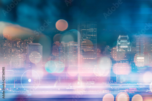 Poster New York Abstract bokeh city light background