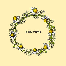 Beautiful Flowers Frame With W...
