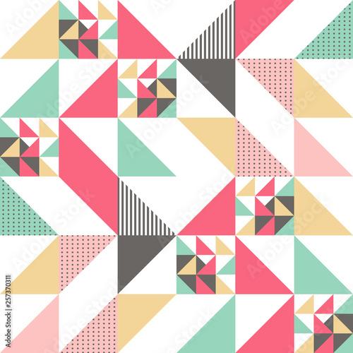 wektorowy-nowozytny-bezszwowy-kolorowy-geometria-trojboka-wzor-koloru-abstrakcjonistyczny-geometryczny-tlo-poduszka-stubarwny-druk-retro