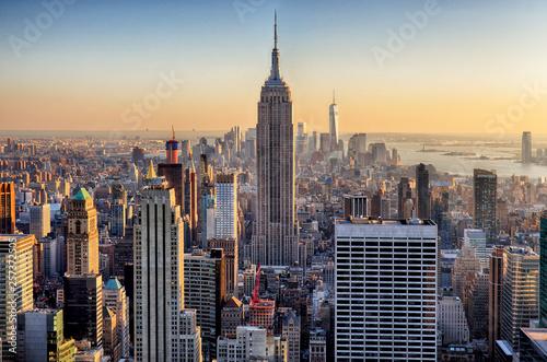 Fototapeten New York Sunset in Manhattan, New York, USA