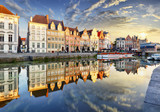 Ghent town with old house at sunset, Belgium - 257373151