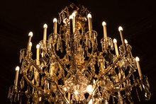 Elegant Chandelier, Candelabrum On Ceiling