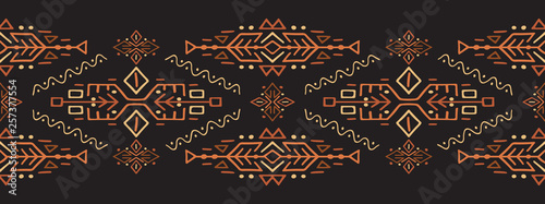 Photo sur Aluminium Style Boho African Ethnic Style Vector Stripe Ornament